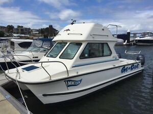 Bargain 24ft Shark Cat Twin 150s only 200 hrs Broadbeach Waters Gold Coast City Preview