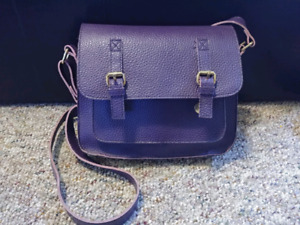 Jazzd Purple & Leopard print leather purse