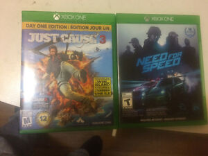 Xbox One games Need for Speed and Just Cause 3