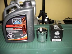 Fs New Harley oil and chrome oil filter
