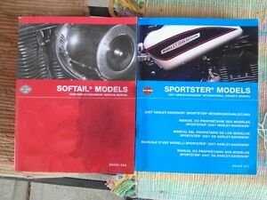 2008 Softail Service Manual and 2007 Sportster Owner's Manual