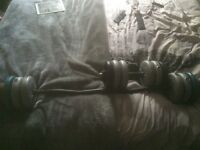 Ez curl bar and dumbell