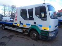 renault midlum recovery truck tilt/slide with spec lift crew cab