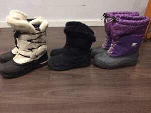Youth size 5 winter name brand  boots and Columbia coat London Ontario image 3