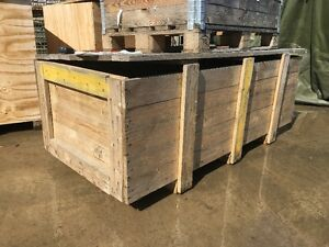 Pallets and wooden boxes, various sizes
