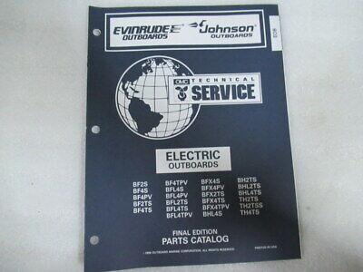 1997 Evinrude Johnson Electric Final Edition OEM Parts Catalog Manual P/N 438184