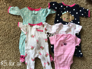Large lot of baby girl's clothes!