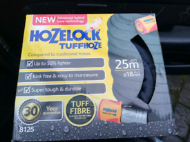 "HOZELOCK TUFFHOZE GREY 25M X ½""(553JG) Hybrid garden hose, combinin"