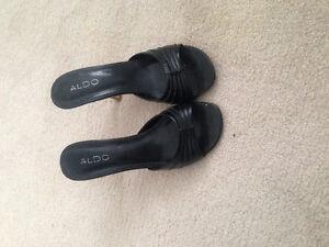 Black ALDO sandals- size 7