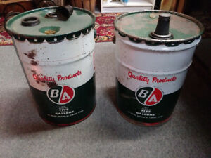 B/A 5 Imperial gallon oil cans