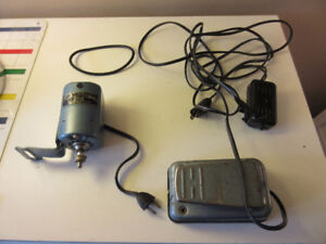 2 Motors for sewing machine, shoe repair with pedals
