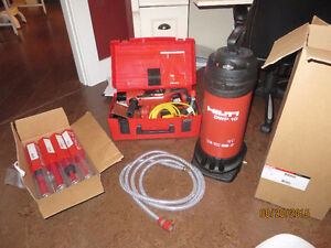 Hilti Diamond Coring Tool with water tank and bits