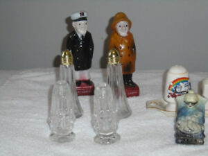 various old salt and pepper shakers,,,,,,, over 35 years old