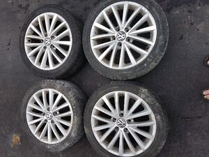 Jetta Factory Rims with Winter Tires