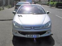 54 plate Peugeot 206 1.6 16v Quicksilver convertible