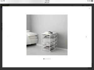 IKEA ALGOT frame with 4 mesh basket (NEW, still in packaging)
