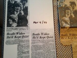 Beatles newspaper clippings Kitchener / Waterloo Kitchener Area image 2