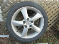 17 inch Aluminum wheels and tires off 2004 mazda 6
