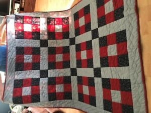 hand quilted double sized quilt