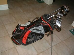 TAYLOR MADE BURNER RAC OS 14 PCS LEFT STEEL GOLF CLUBS SET - $43