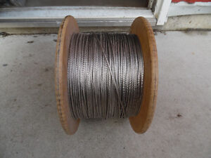 "1 x 19  Stainless Steel 1/8"" Dia, Wire  Cable 1000ft new Kitchener / Waterloo Kitchener Area image 2"