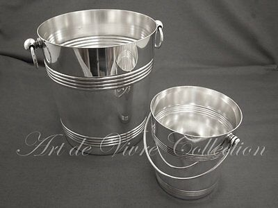 Christofle Champagne Bucket and Ice Bucket Set, Art Deco style Wholesale Champagne Buckets