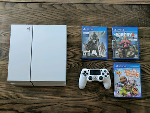 [ps4] Sony Playstation 4, 500gb, white limited edition