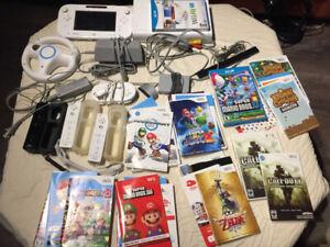 Nintendo Wii U console plus large lot of games (Wii U & Wii)