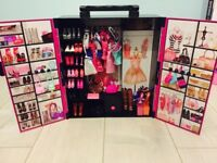 Barbie wardrobe clothes and dolls