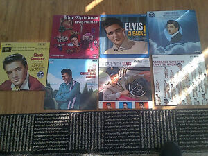 ELVIS PRESLEY VINYL LP COLLECTION SET 2 -  7 TITLES FANS ONLY!!!