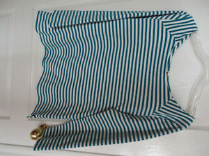 Women's Old Navy white/blue striped blouse top shirt Size Large London Ontario image 1