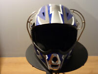 SHR Moto-cross Full face Custom Helmut (small)