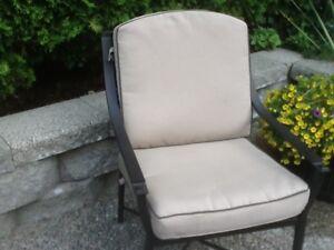 Patio chair cushions & umbrella