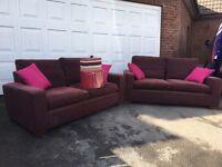 2 x Sofa and cushions