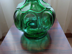 art glass pressed bottle, wine caraffe London Ontario image 1