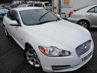 2010 JAGUAR XF V6 LUXURY AUTOMATIC IN WHITE SALOON DIESEL