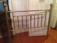 Brass headboard (double) and double bed frame