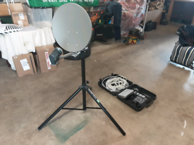 Caravan satellite system and tripod