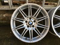 Set of 19 Inch Original BMW M Sport Wider rear alloy wheels.