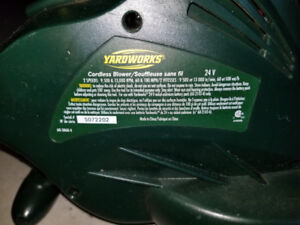 Yardworks - 24 Volt Electric Blower and Trimmer