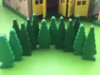 trees for wooden railway