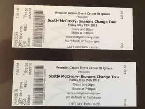 2 Tickets to see Scotty McCreery Live- Winner Of American Idol!!