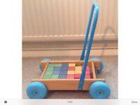 Vintage Retro 1980's Child's Brick Trolley