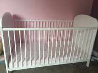 Baby cot bed with materass