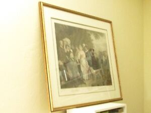 Large Antique Shakespeare Winters Tale Etching Print Cambridge Kitchener Area image 7