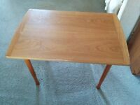 2 End Tables with teak-like finish