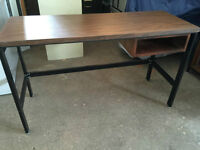 Student Desk - metal frame with laminate top.