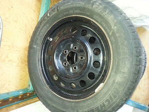 2 Sets of Winter Tires w/Black Rims London Ontario image 4