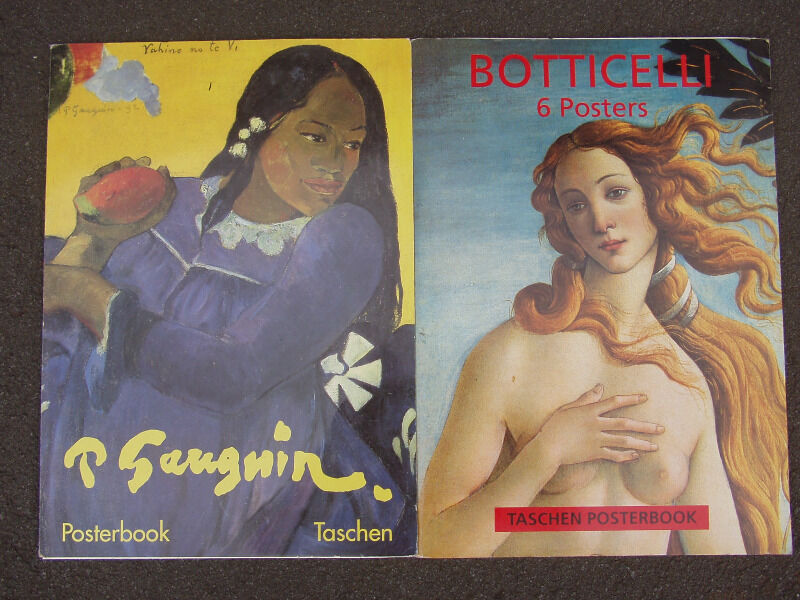 Prints of Paintings By Gauguine (1888) and Botticelli