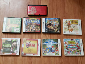 Sp Ed Mario 3Ds XL with charger and 9 games